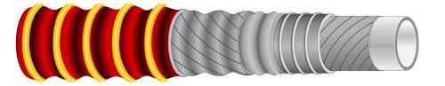 IVG带塑料螺旋线食品管